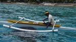 Banca version pirogue pour nourrir les requins-baleines